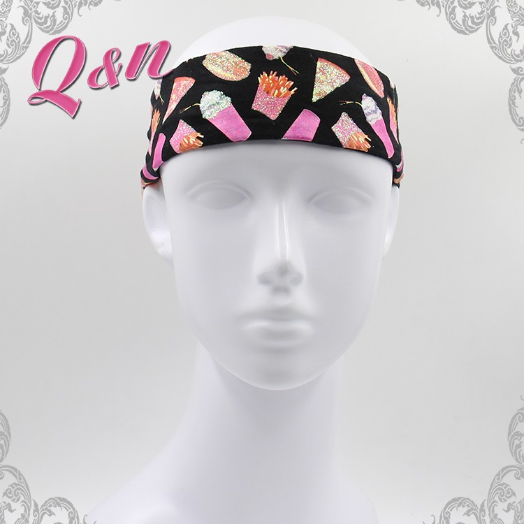 printed chevron sports headband for men