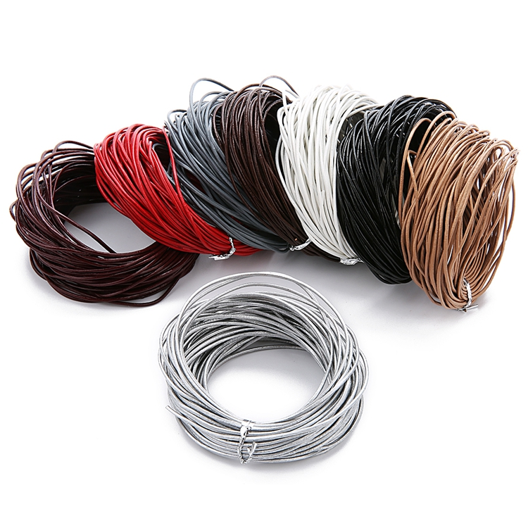 cords craft Round Leather Cord for Bracelet /& Necklaces Genuine Leather Cord 3.0MM C17 Tie-N-Dye