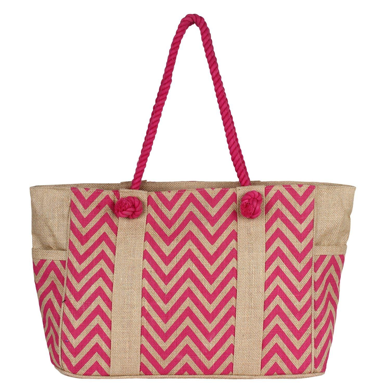 Buy Rustic Town Women Jute Bags Burlap Beach Bags Tote Shopping Bags ...