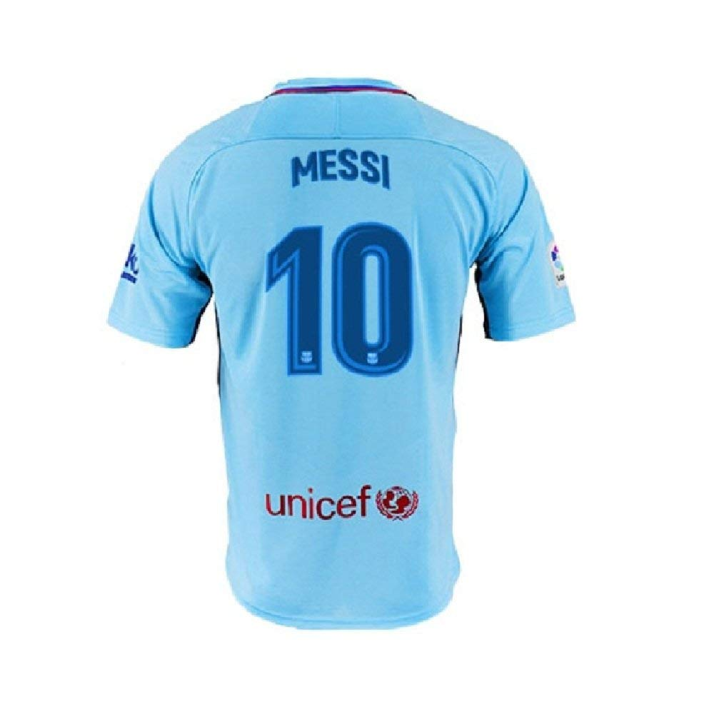 ad5be9f06 Get Quotations · Men s Messi Jerseys Barcelona 10 Football Jersey Soccer  Jersey Blue