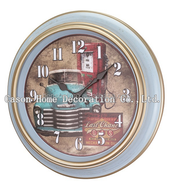 Cason old style antique plastic wall clock