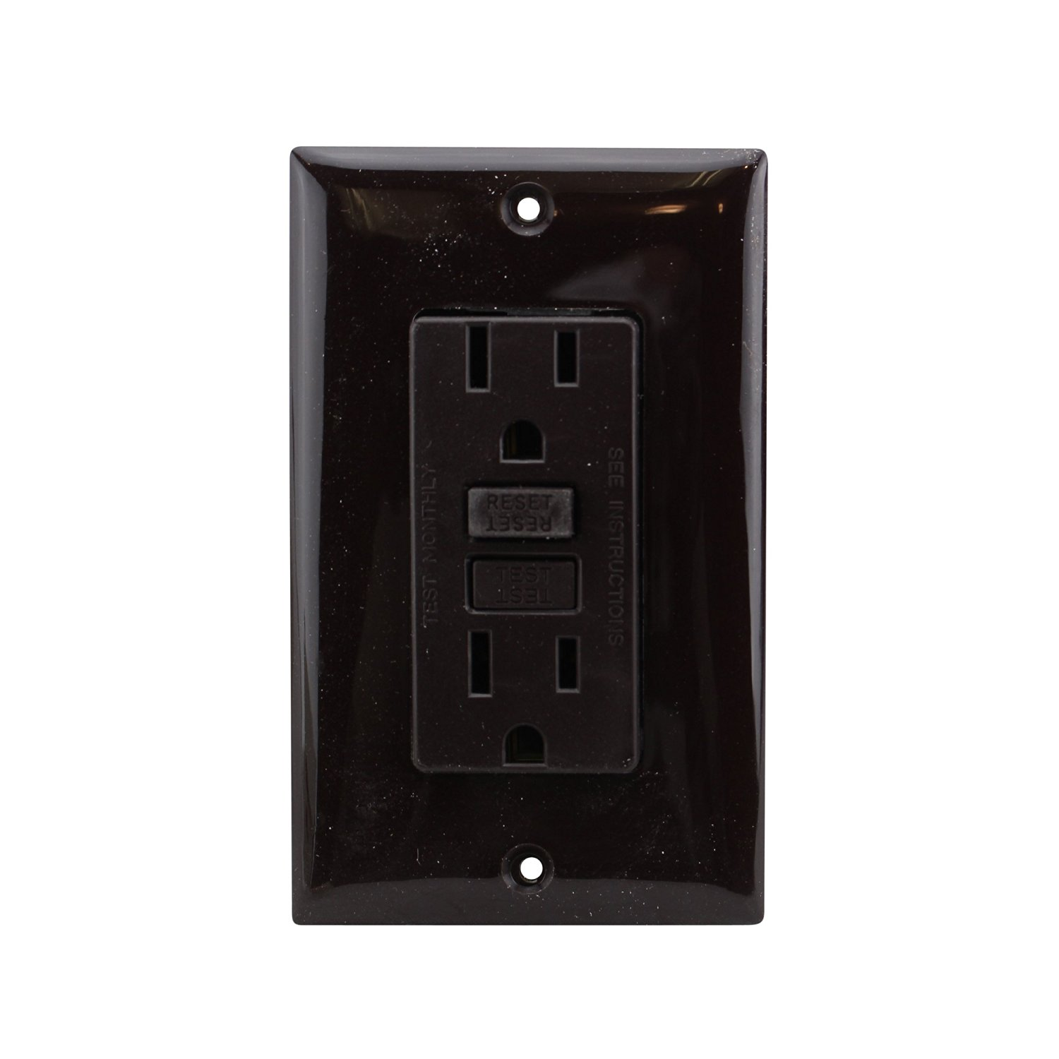 Buy Hubbell Wiring Gfr52 Gfci Receptacle 15a 125v W Faceplate Receptacles Brown