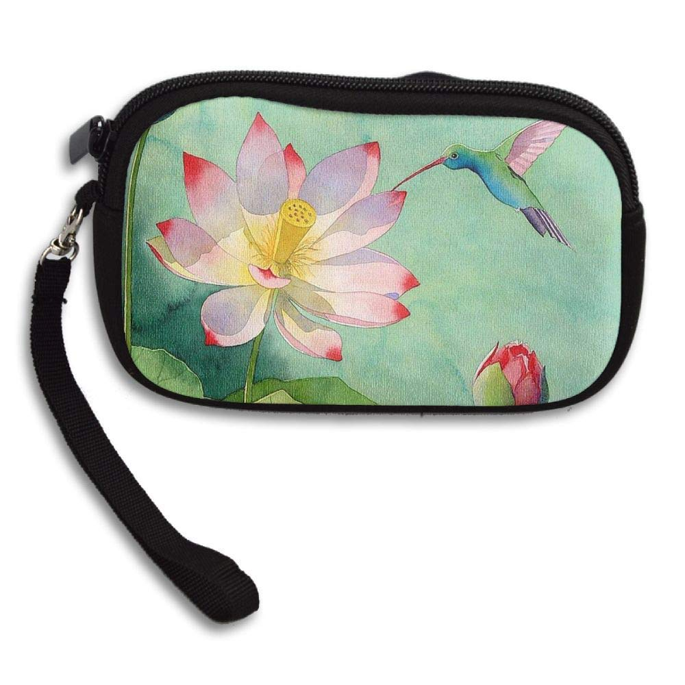 WCVRUT Unisex Clutch Wallet For Woman Ladies -Lotus Long Purse Bag Men Gentlemen