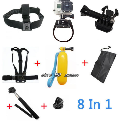 Gopro Accessories Hero 3 Sj4000 Kit Chest Belt Head + Hand Mount Strap +