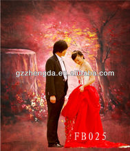 High Quality Chinese Traditional Wedding Clothes Style HandPainting Background