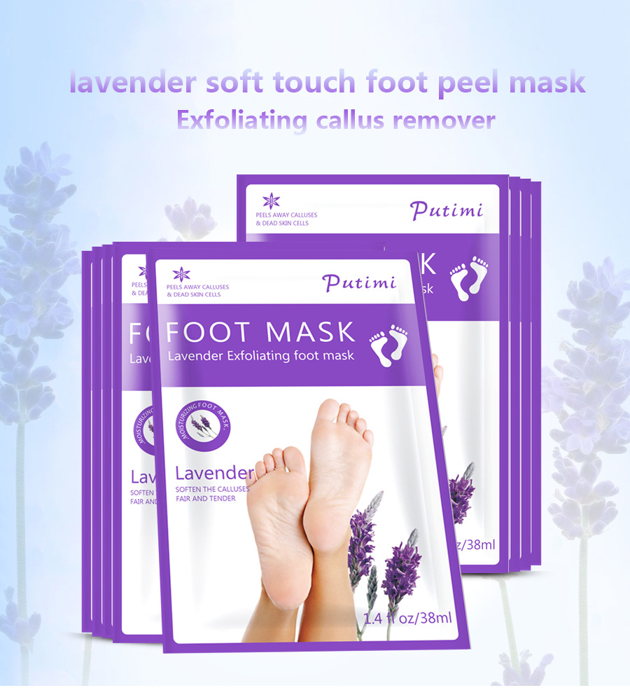 OEM Japanese Wholesale Baby Feet Exfoliating Foot Peel Mask dry Foot moisturizing whitening skin Socks exfoliating foot mask