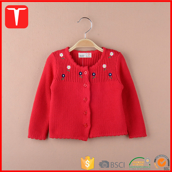 Girls Embroidery Baby Cardigan Knitting Pattern Buy Baby Cardigan