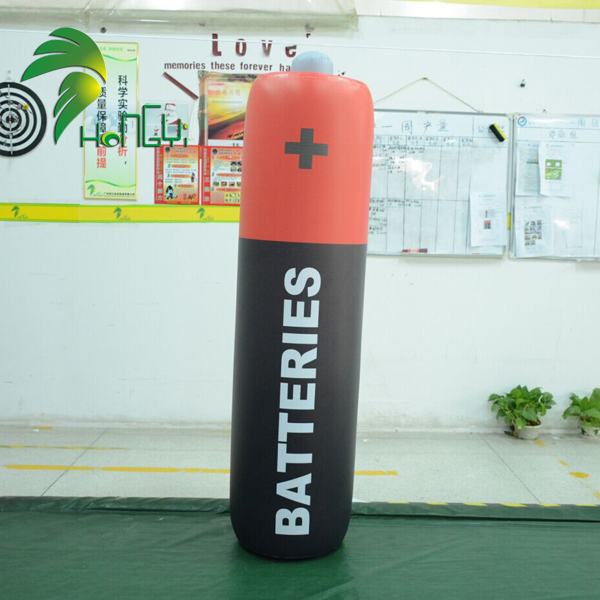 Custom giant inflatable battery model for exhibition