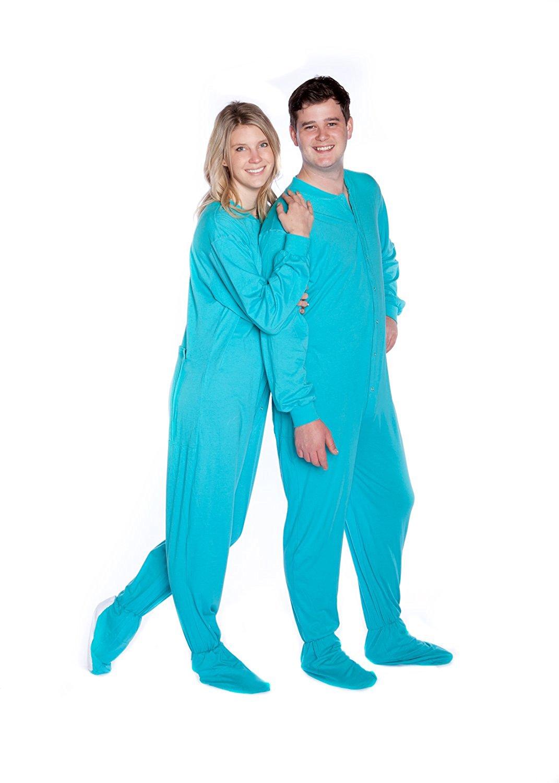Penguin Print on Blue 100/% Cotton Funzee Unisex Footed Onesie Pajamas