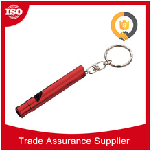 Time Delivery customized standard size metal outdoor whistle with thermometer