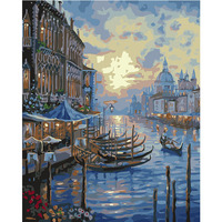 City view hot sale water city Venice Italy oil painting by numbers