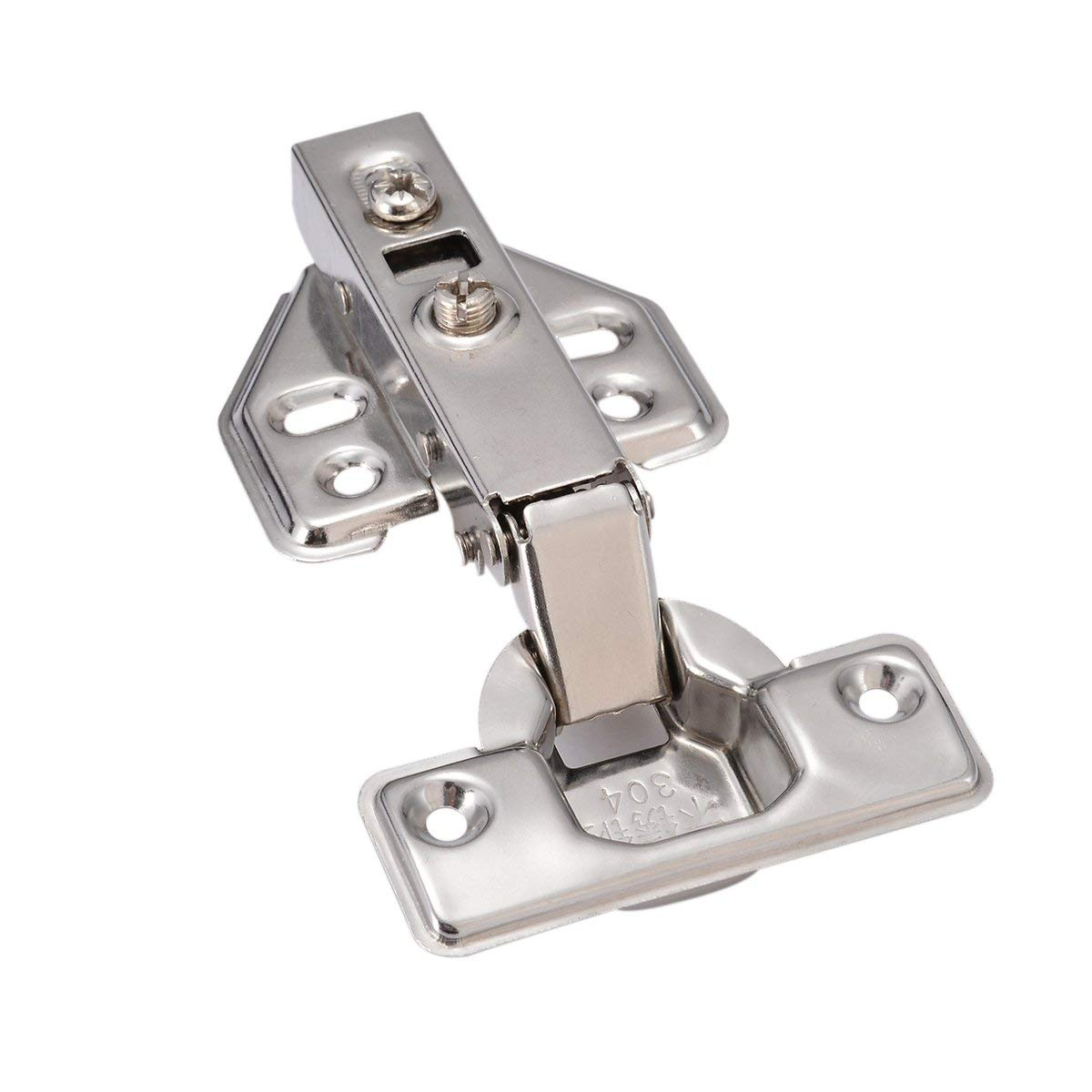 Color: Black 2PCS 4 inch Hinge 304 Stainless Steel Bearing Loose Leaf Solid Wood Door Silent Thickened Folding Hinge