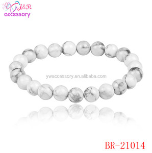 White turquoise stone bead bracelet jewelery accessories for women