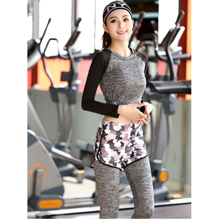 High quality anti-wrinkle soft Cationic fabric yoga bra shirts and girls sexy yoga pants sets