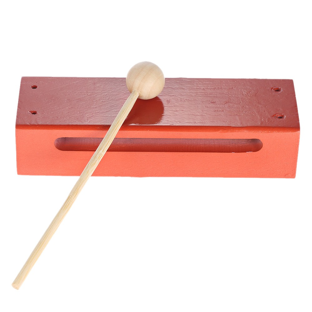 Wooden Percussion Instrument Block Children Kids Baby Early Educational Musical Toys with Mallet