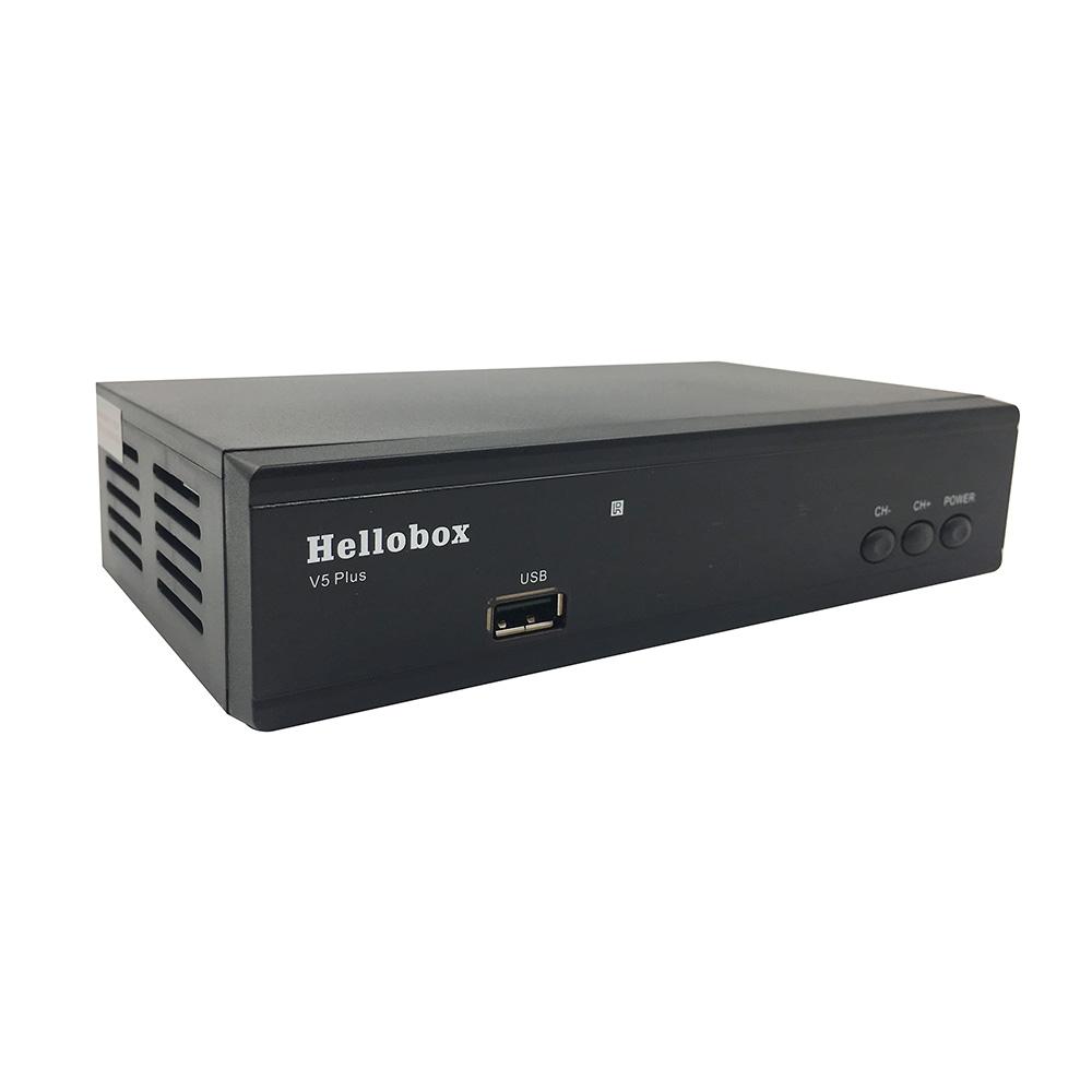 Hellobox V5 Plus H 265 Dvb-s2 Satellite Receiver Autoroll Powervu Biss  Support 2 Year Free Iks Scam 3 Months Free Iptv - Buy Hellobox V5 Plus,Free