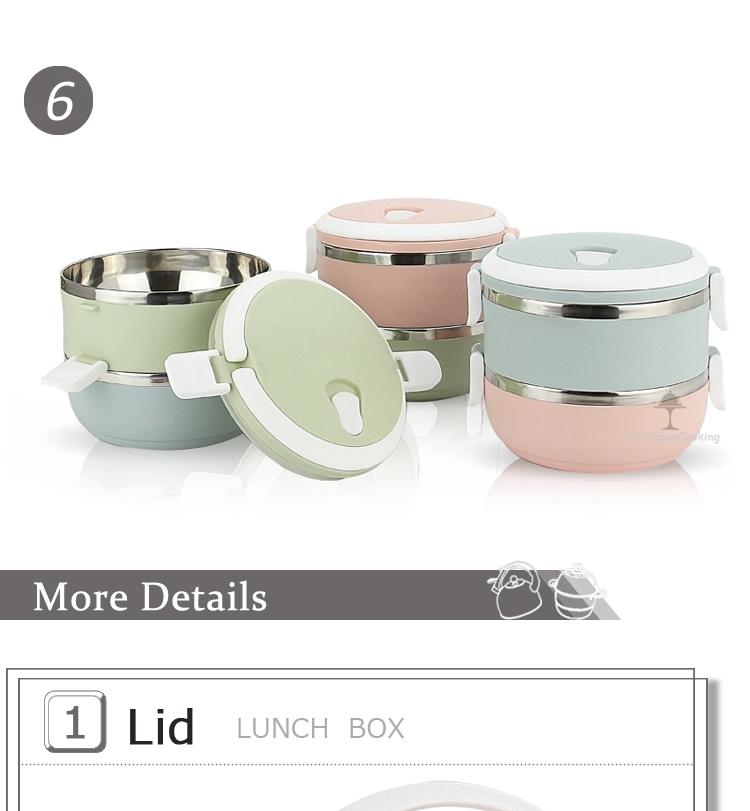 ยอดนิยมราคาถูกสแตนเลส 1 ชั้น Bento กล่องอาหารกลางวัน
