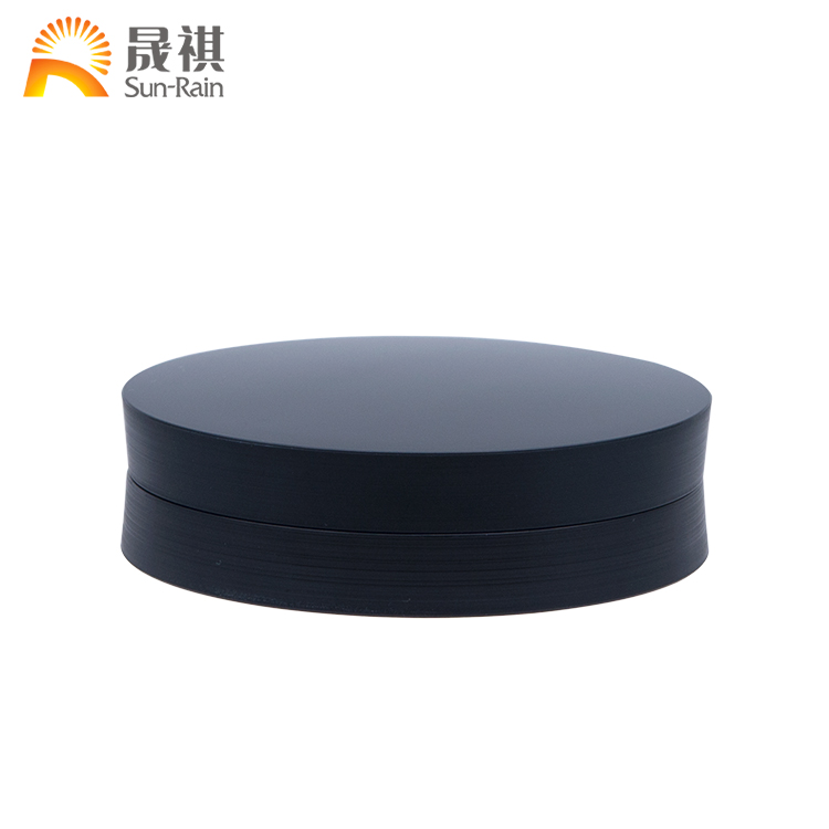 New design ABS plastic round shape single color wholesale makeup custom eyeshadow palette