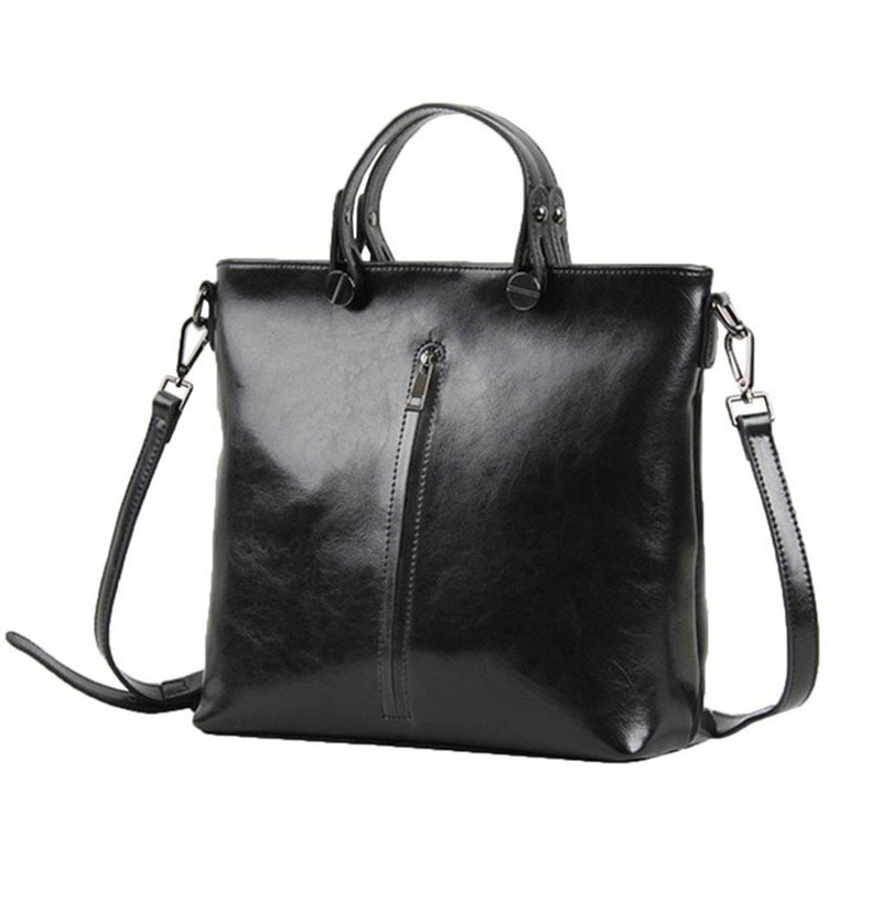 Women  Leather Handbags Vertical Zipper Women Shoulder Bags Famous Brand  RivetWoman Bags 2015 Bag Handbag Fashion Handbags