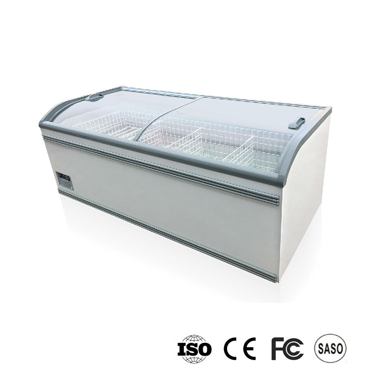 AHT Curved Island Freezer Used Commercial Supermarket Refrigeration Equipment for Sale