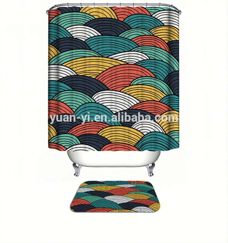 For Sale Red White And Blue Shower Curtain Red White And