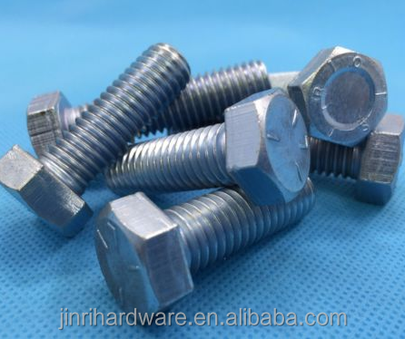 M14 X 45 HEX HEAD SET SCREW BOLTS X 4 DIN933