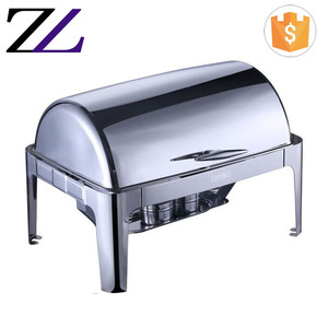 Italian restaurant supplies cheffing dishing buffet catering equipment stainless steel shafing dish 9L luxury chafing dish