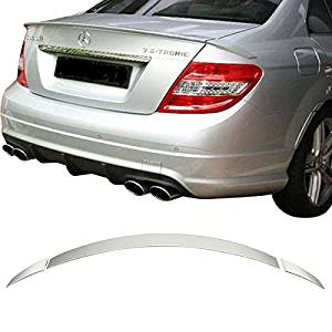 Painted OEM 775 Silver C63 AMG Trunk Spoiler Lip For 2012 2014 C250 C350 Coupe