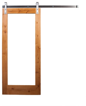Ordinaire Customed Craftman Knotty Pine Interior Wood Door Slab With Clear Glass
