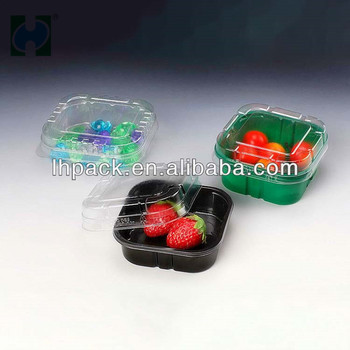 PET Fresh Fruit Packaging Hot Sale Berry Plastic Packaging Fruit Container