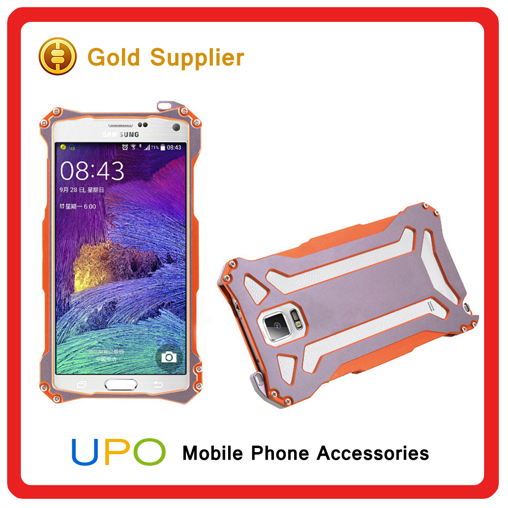 [UPO] Aluminum Metal Extreme Shockproof DirtProof Waterproof Phone Cases for Samsung Galaxy Note 4