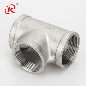 High quality sanitary Stainless Steel eq Tee 3 way Female ss201 Household Threaded Pipe Fitting