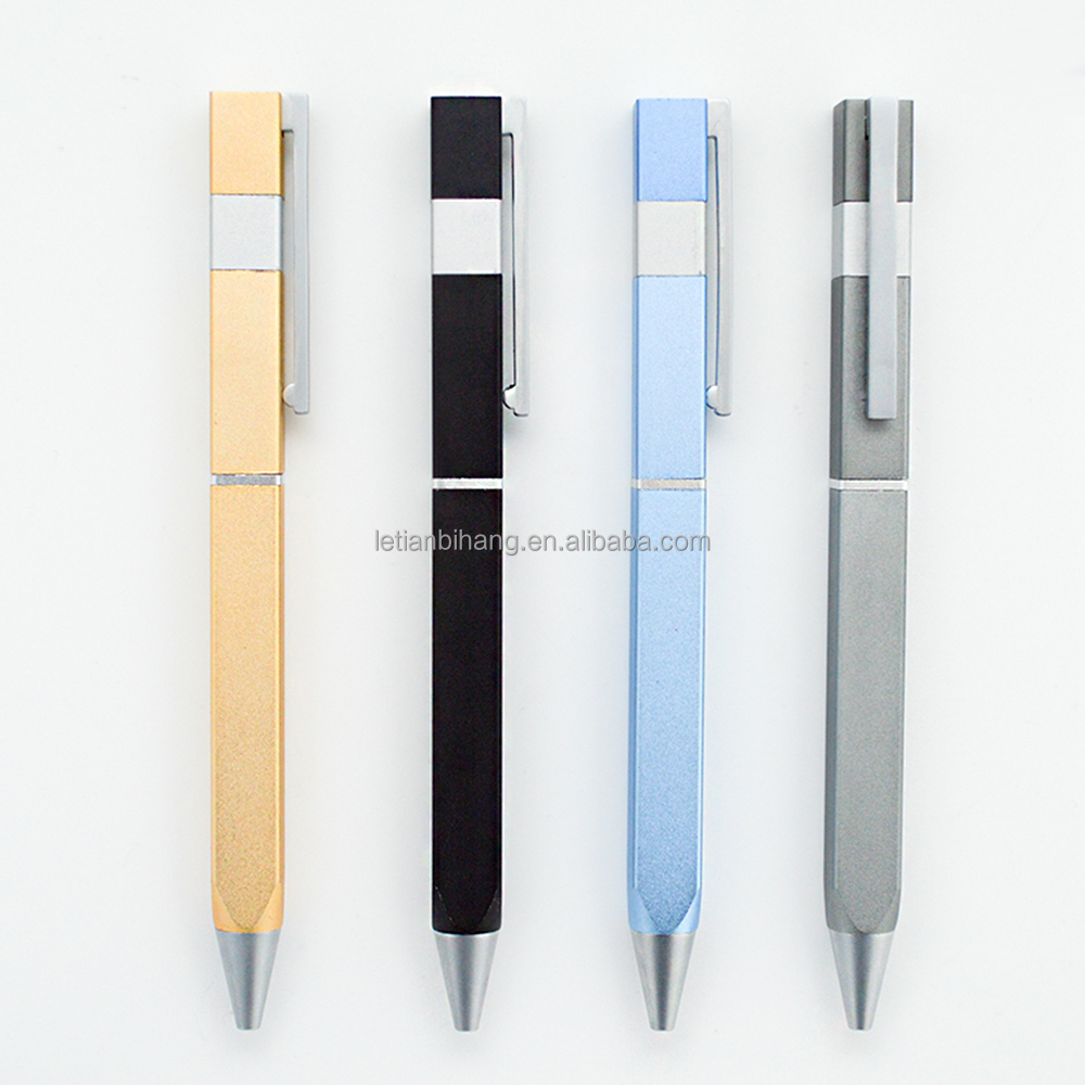 Factory supply high quality square flat metal gift <strong>pen</strong> with name printed