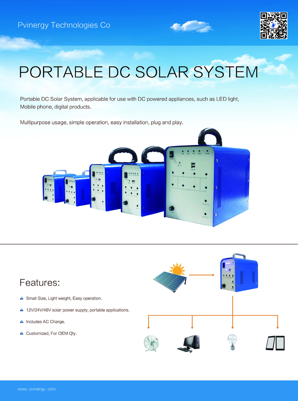 Solar Pv Modules Portable Solar Power Generator System For Home