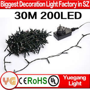 30M 200 LED party string light 24v low voltage cheap christmas light outdoor light string