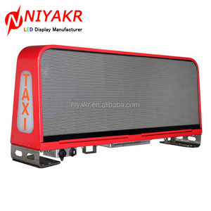 niyakr led new products outdoor advertising p4 p5 p6 full color taxi car bus top roof led display screen with wireless 3g system