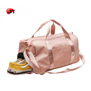 New Trendy Custom Ladies Nylon Tote Sling Duffle Bag Fitness Sport Shoe Duffel Travel Bag With PVC Waterproof Bag