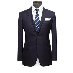 Factory directly supply an-ti wrinkle men slim wedding suits navy blue wool coat pant designs mens suits three pieces suit