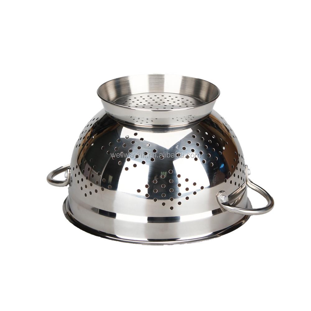Extra large stainless steel colander