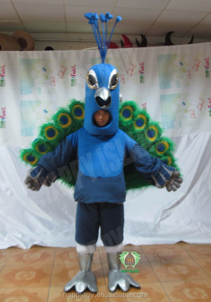 HI peacock mascot costume animal cosplay costume custom cartoon character costumes for adult