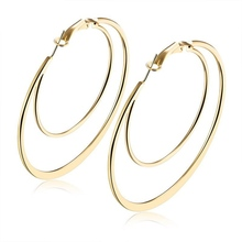 TY-21 Gold Plated Hoops Bulk Hoop Earrings Beauty Supply Gold Loop Earrings Designs With Price
