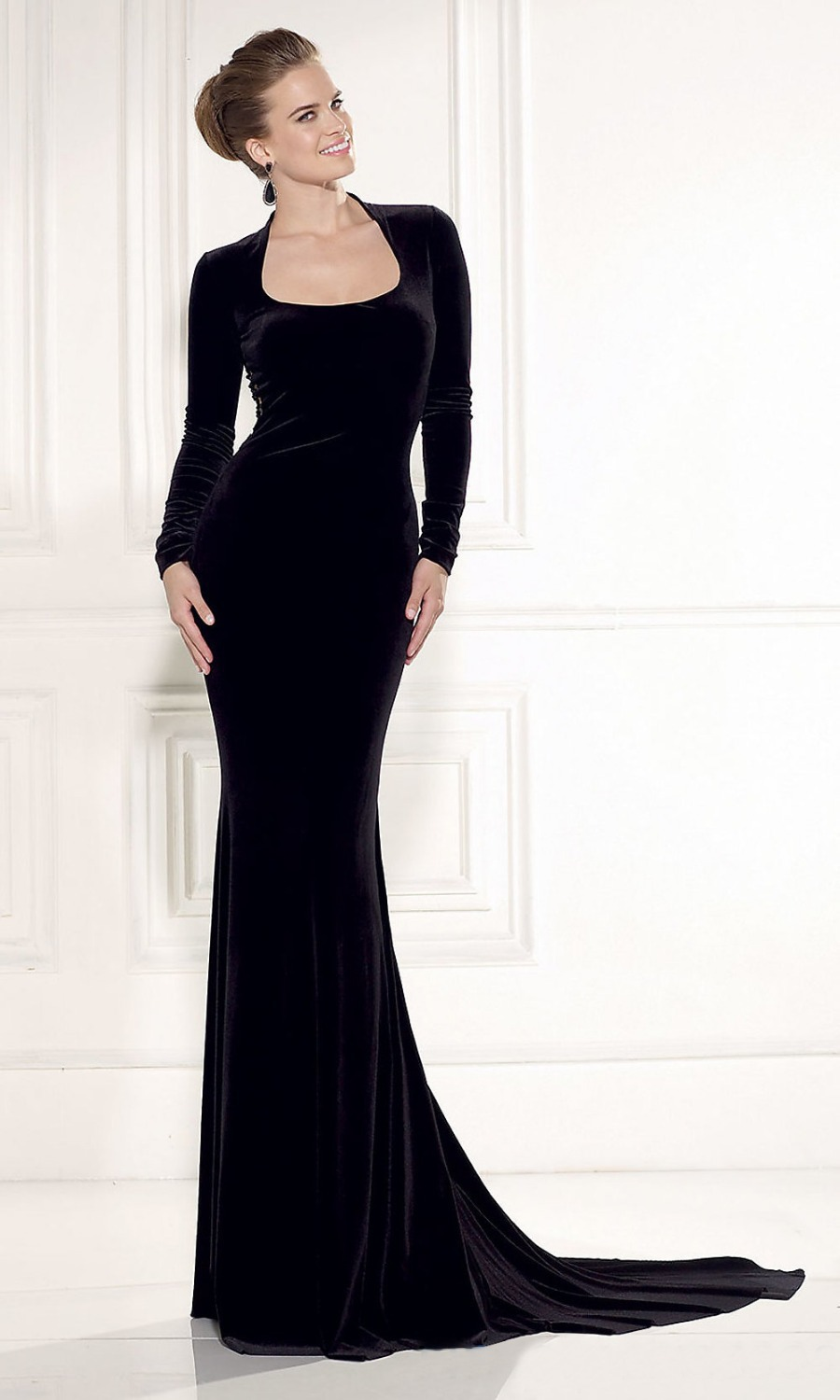 Cheap Backless Long Sleeve Black Dress, find Backless Long Sleeve ...
