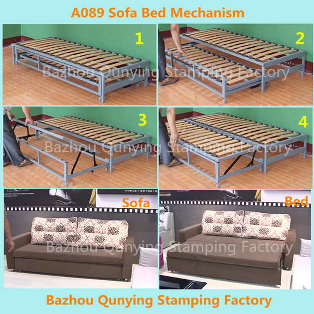 Strengthen Furniture Wooden Slatts Sofa Bed Mechanism Folding Frame