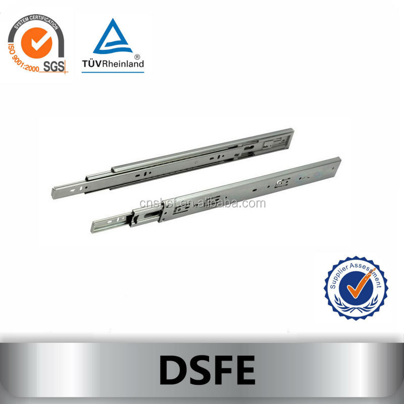 DSFE Kitchen cabinet soft close heavy duty full extension steel telescopic drawer slide