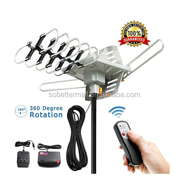 TV <strong>Antenna</strong> Amplified 150 Miles HD Digital Outdoor HDTV , 360 degree Rotation (Non Mount Pole) OD102