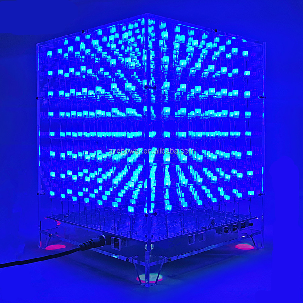 8X8X8 3D Light Cube Kits LED DIY electronic suit parts
