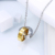 40050 xuping stainless steel two tone couple ring necklace juwelry