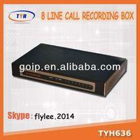 TYH636 / 8 lines phone voice recording boxmini voice recorder chip