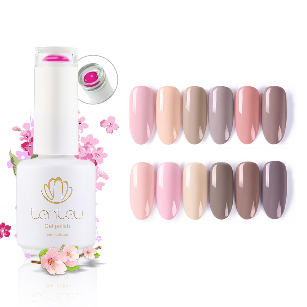 Tenteu Free Sample Soak Off <strong>Gel</strong> Polish Make Your Brand Nail <strong>Gel</strong> Polish Easily Coloring Nude Color UV LED <strong>Gel</strong> Nail Polish