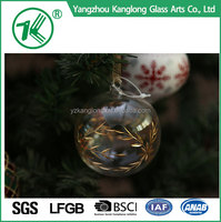 wholesale Christmas decorative red clear glass ball christmas ornaments